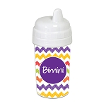 Hand Sketched Chevron with Purple 10 oz. Custom Spill Proof Sippy Cup