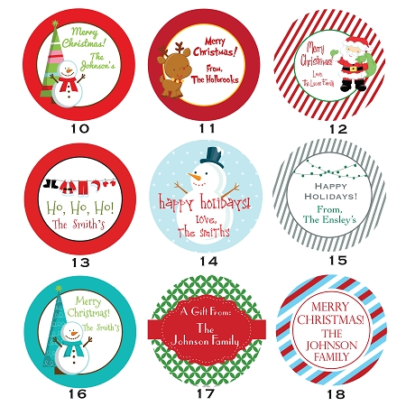 """2"""" Round Gift Tag Stickers"""
