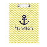Nautical Anchor Double Sided Clipboard