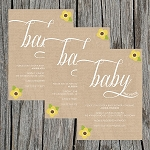 Tan Textured Baby Shower Invitation