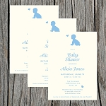 Blue Crawler Baby Shower Invitation