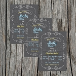 Chalkboard 1 Baby Shower Invitation