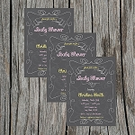 Chalkboard 2 Baby Shower Invitation