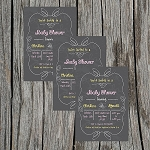 Chalkboard 3 Baby Shower Invitation