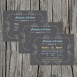 Chalkboard 4 Baby Shower Invitation