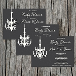 Elegant Grey Baby Shower Invitation