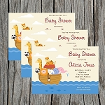 Noah's Ark 2 Baby Shower Invitation
