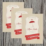 Red Umbrella Baby Shower Invitation