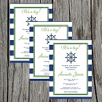 Striped Nautical Baby Shower Invitation