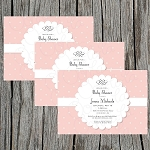 Vintage Scalloped Baby Shower Invitation