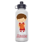 Basketball Player 2 Custom Aluminum Water Bottle