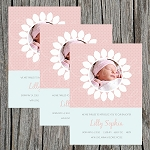 Daisy Girl Custom Birth Announcement