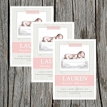 Peach Tape Girl Custom Birth Announcement