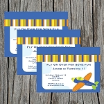 Flying High 2 Custom Birthday Invitations