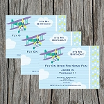 Flying High 3 Custom Birthday Invitations