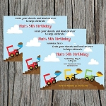 Construction 2 Custom Birthday Invitations