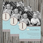 Dotted Boy Custom Birthday Invitations