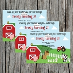 Farm Custom Birthday Invitations
