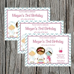 Girls Slumber Party 5 Custom Birthday Invitations