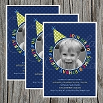 Hat Boy Custom Birthday Invitations