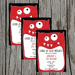 Monster 1 Custom Birthday Invitations