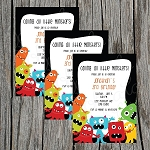 Monster 2 Custom Birthday Invitations