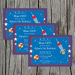 Outer Space 1 Custom Birthday Invitations