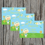Party in the Park Custom Birthday Invitations