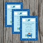 Pilot 2 Custom Birthday Invitations