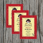 Pirate 2 Custom Birthday Invitations