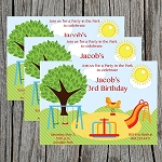 Playground Custom Birthday Invitations