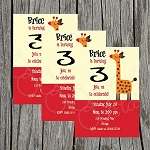 Retro Jungle 1 Custom Birthday Invitations