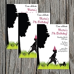 Silhouette Boy Custom Birthday Invitations