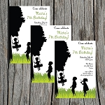 Silhouette 4 Custom Birthday Invitations