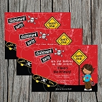 Skateboard 4 Custom Birthday Invitations