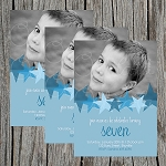 Starry Eyed Boy Custom Birthday Invitations