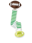 Football Pacifier Clips