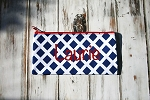 Blue Lattice Carry All Pouch