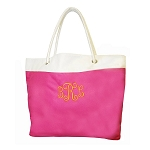 Hot Pink Embroidered Pool Tote