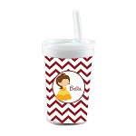 Chevron Belle Built in Straw Tumbler