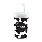 Cow Print Built in Straw Tumbler