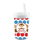 Multicolored Cowboy Dots Built in Straw Tumbler