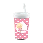 Ice Cream Girl Built in Straw Tumbler