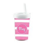 Pink Personalized Built in Straw Tumbler