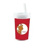 Rudolph Built in Straw Tumbler