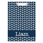 Blue Arrows Personalized Double Sided Hardboard Clipboard
