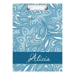 Blue Floral Double Sided Clipboard