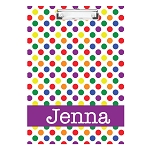 Bright Dots with Purple Personalized Double Sided Hardboard Clipboard