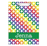 Bright Stars with Green Personalized Double Sided Hardboard Clipboard