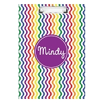 Bright Waves with Purple Personalized Double Sided Hardboard Clipboard